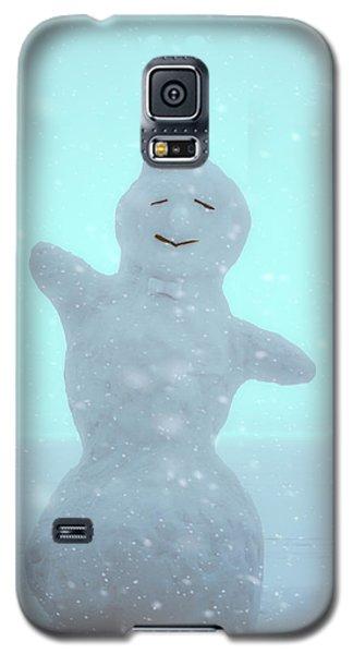 Galaxy S5 Case featuring the photograph Cheerful Snowman by Ari Salmela