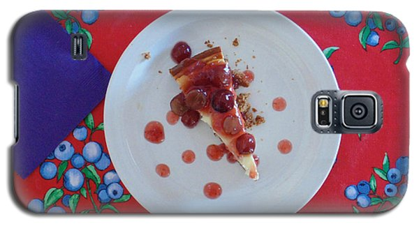Cheese Cake With Cherries Galaxy S5 Case