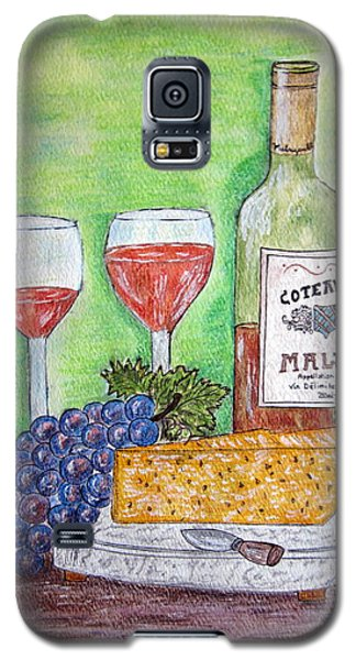 Cheese Wine And Grapes Galaxy S5 Case by Kathy Marrs Chandler