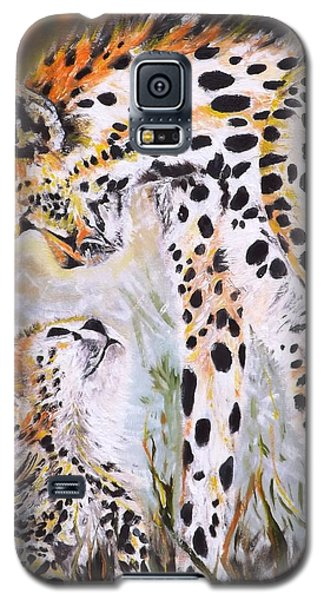 Cheetah And Pup Galaxy S5 Case
