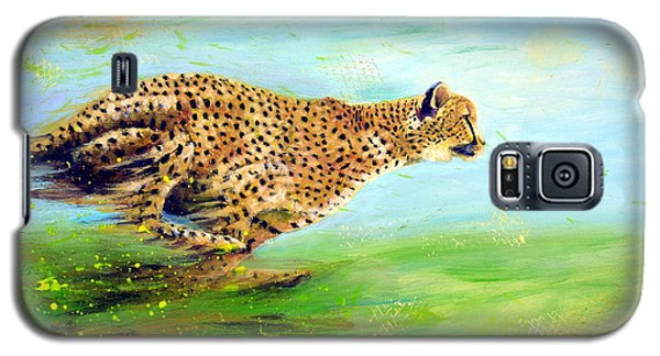 Cheetah At Speed Galaxy S5 Case