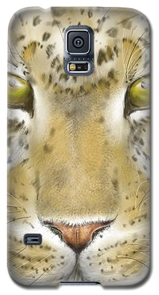 Galaxy S5 Case featuring the digital art Cheetah Face by Darren Cannell
