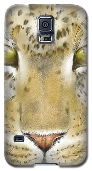 Cheetah Face Galaxy S5 Case by Darren Cannell