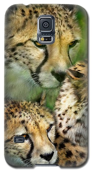 Cheetah Moods Galaxy S5 Case by Carol Cavalaris