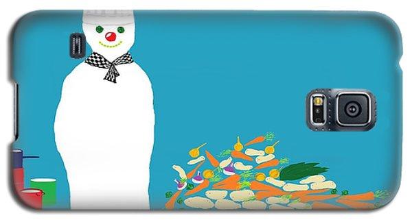 Galaxy S5 Case featuring the digital art Chef Snowman by Barbara Moignard