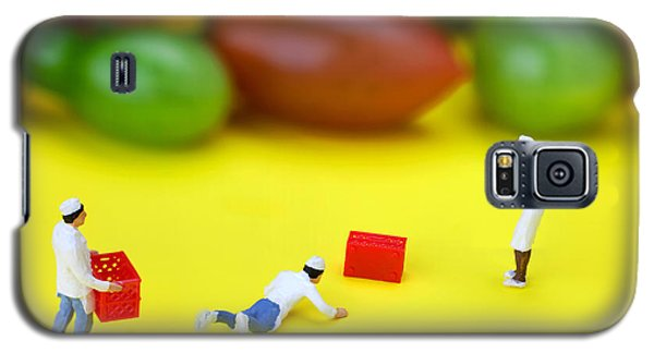 Galaxy S5 Case featuring the painting Chef Tumbled In Front Of Colorful Tomatoes Little People On Food by Paul Ge