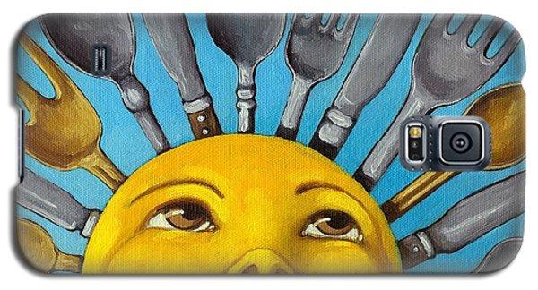 Chefs Delight - Cbs Sunday Morning Sun Art  Galaxy S5 Case by Linda Apple