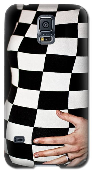 Chequered Pregnancy Galaxy S5 Case