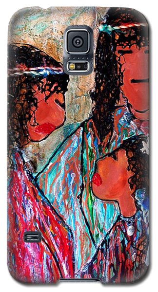 Galaxy S5 Case featuring the painting Cherokee Trail Of Tears Brave Family by Laura  Grisham