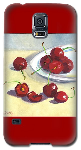 Cherries On A Plate Galaxy S5 Case by Susan Thomas