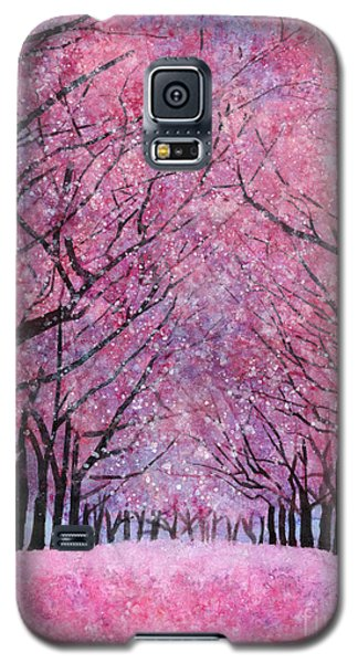 Galaxy S5 Case featuring the painting Cherry Blast by Hailey E Herrera