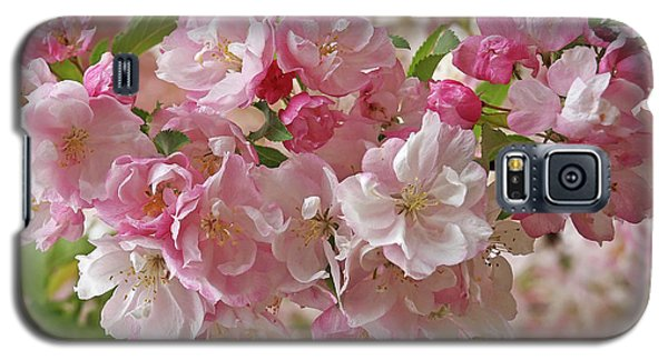 Galaxy S5 Case featuring the photograph Cherry Blossom Closeup by Gill Billington