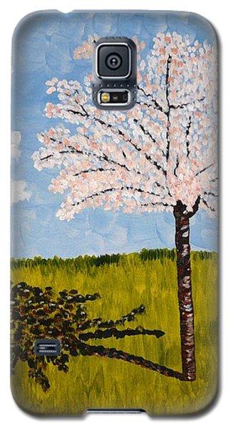 Cherry Blossom Tree Galaxy S5 Case by Valerie Ornstein