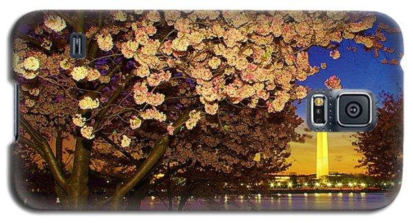 Cherry Blossom Washington Monument Galaxy S5 Case