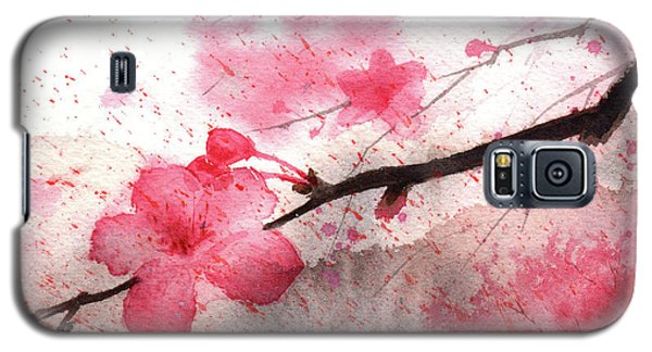 Cherry Blossoms 1 Galaxy S5 Case
