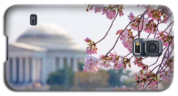 Cherry Blossoms And Jefferson Memorial Galaxy S5 Case