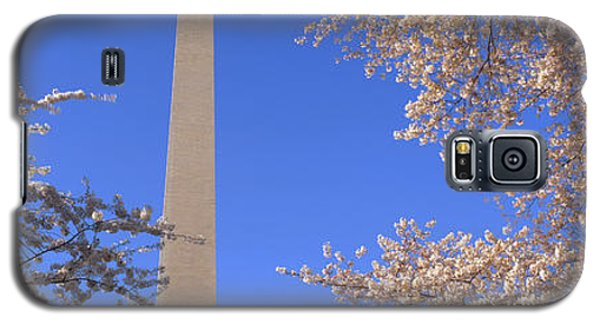 Cherry Blossoms And Washington Galaxy S5 Case by Panoramic Images