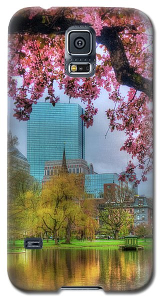 Galaxy S5 Case featuring the photograph Cherry Blossoms Over Boston by Joann Vitali