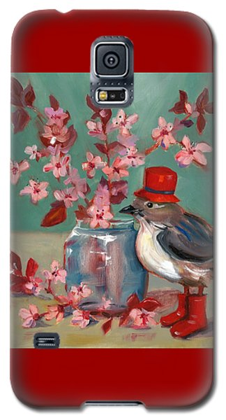 Galaxy S5 Case featuring the painting Cherry Blossoms by Susan Thomas
