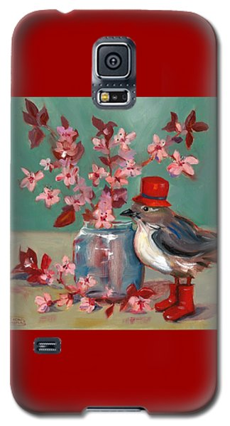 Cherry Blossoms Galaxy S5 Case by Susan Thomas