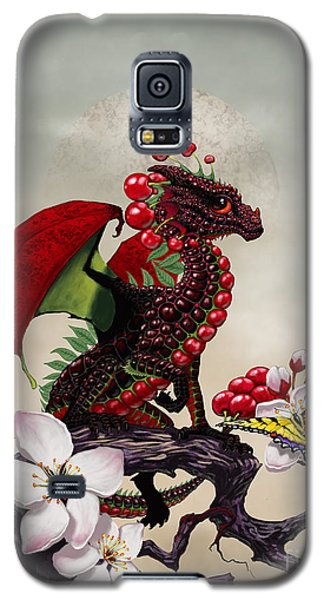 Galaxy S5 Case featuring the digital art Cherry Dragon by Stanley Morrison