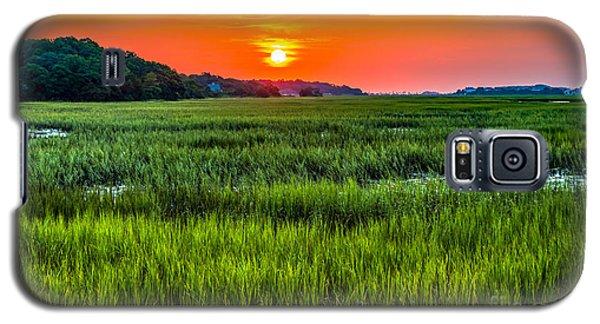 Cherry Grove Marsh Sunrise Galaxy S5 Case