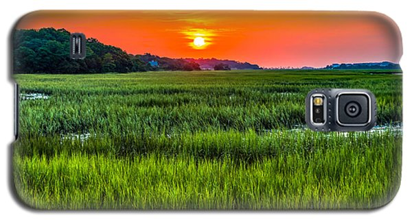Cherry Grove Marsh Sunrise Galaxy S5 Case