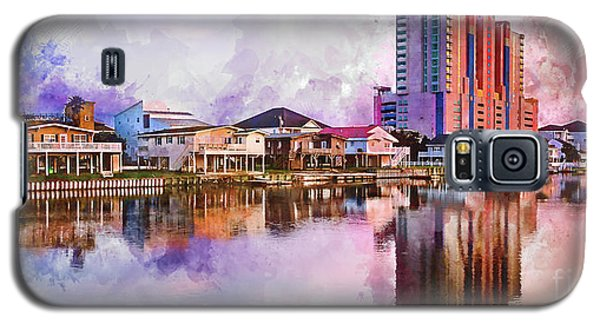Cherry Grove Skyline - Digital Watercolor Galaxy S5 Case