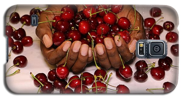 Cherry In The Hands Galaxy S5 Case by Paul SEQUENCE Ferguson             sequence dot net
