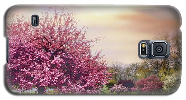 Galaxy S5 Case featuring the photograph Cherry Orchard Hill by Jessica Jenney