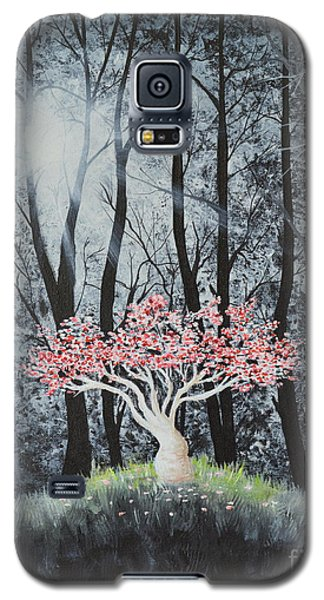 Galaxy S5 Case featuring the painting Cherry Surprise by Mary Scott