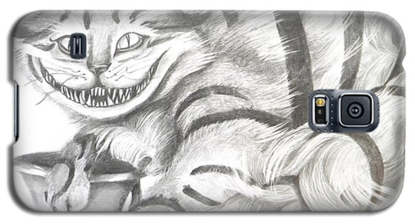 Galaxy S5 Case featuring the drawing Chershire Cat  by Meagan  Visser