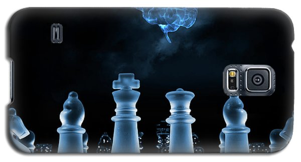 Galaxy S5 Case featuring the photograph Chess Game And Human Brain by Christian Lagereek