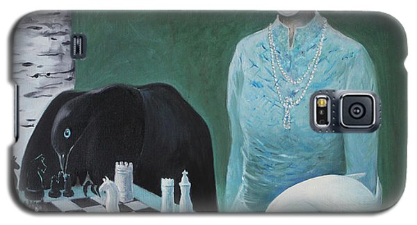Galaxy S5 Case featuring the painting Chess - The Queen Waits by Tone Aanderaa