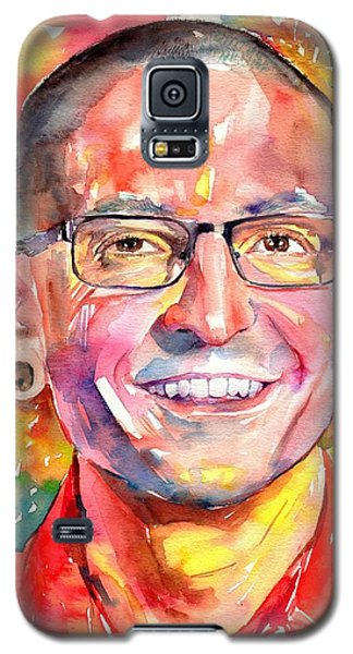 Rolling Stone Magazine Galaxy S5 Case - Chester Bennington Watercolor by Suzann's Art