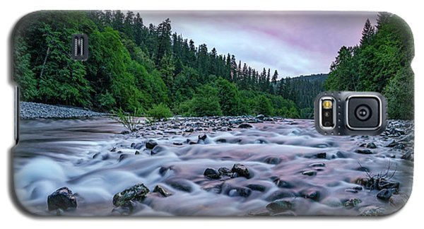 Galaxy S5 Case featuring the photograph Chetco River Sunset 2 by Leland D Howard