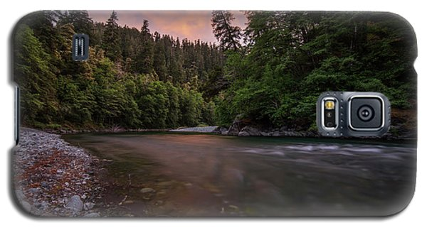 Galaxy S5 Case featuring the photograph Chetco River Sunset by Leland D Howard