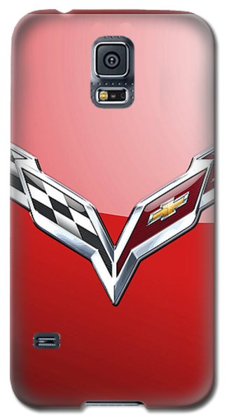 Chevrolet Corvette - 3d Badge On Red Galaxy S5 Case
