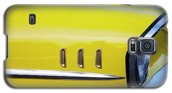 Chevy Bel Air Abstract In Yellow Galaxy S5 Case by Toni Hopper