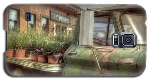 Galaxy S5 Case featuring the photograph Chevy C 30 Pickup Truck - Colby Farm by Joann Vitali