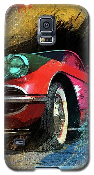 Chevy Corvette Digital Art Galaxy S5 Case by Ron Grafe