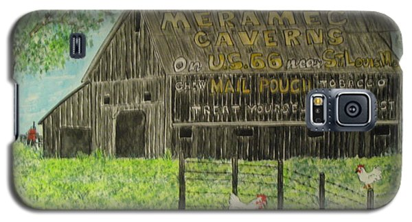 Galaxy S5 Case featuring the painting Chew Mail Pouch Barn by Kathy Marrs Chandler