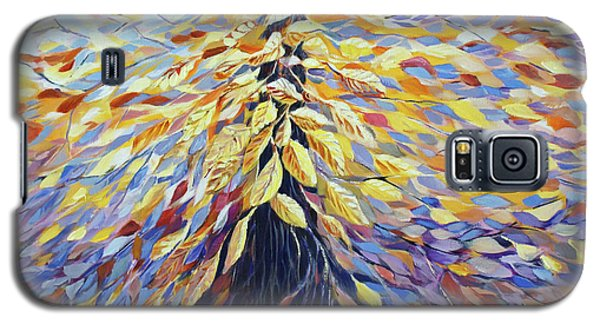 Galaxy S5 Case featuring the painting Chi Of The Mighty Tree by Joanne Smoley
