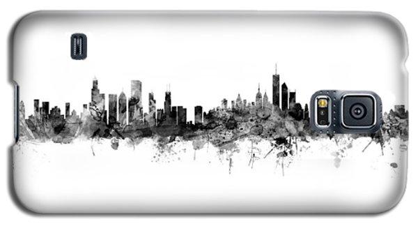 University Of Illinois Galaxy S5 Case - Chicago And New York City Skylines Mashup by Michael Tompsett
