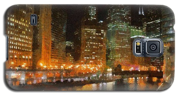 Chicago At Night Galaxy S5 Case by Jeff Kolker