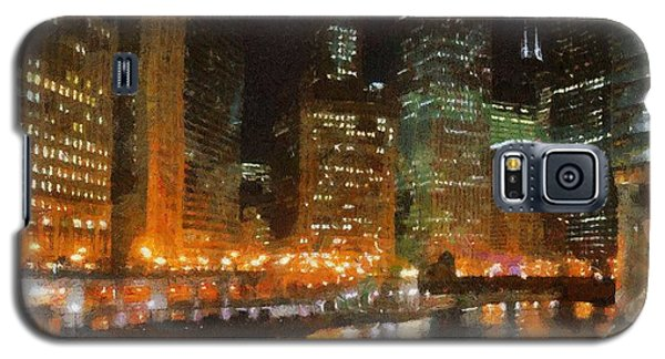 Chicago At Night Galaxy S5 Case
