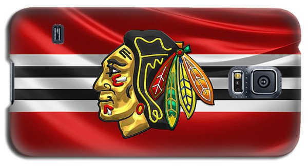 Nerd Galaxy S5 Case - Chicago Blackhawks by Serge Averbukh