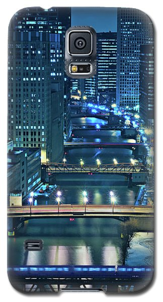 Architecture Galaxy S5 Case - Chicago Bridges by Steve Gadomski
