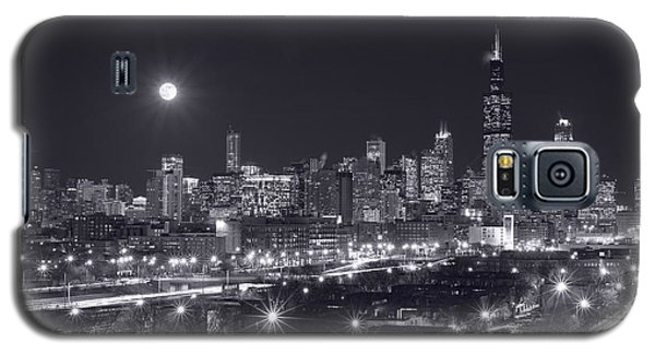 Moon Galaxy S5 Cases - Chicago By Night Galaxy S5 Case by Steve Gadomski