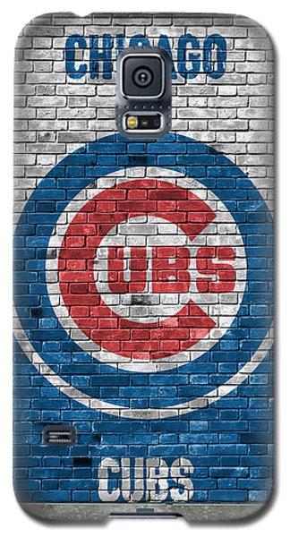 Chicago Cubs Brick Wall Galaxy S5 Case by Joe Hamilton